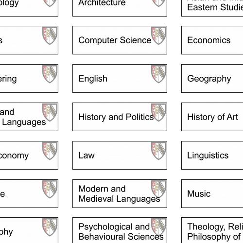 Selwyn course listing