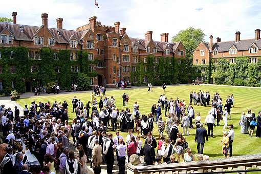 Selwyn's Old Court on graduation day